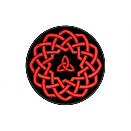 CELTIC KNOT (Circle) Embroidered Patch