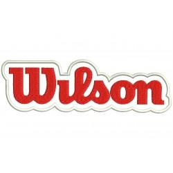 Parche Bordado WILSON (Bordado ROJO / Fondo BLANCO)