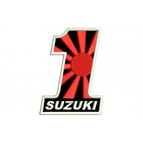 SUZUKI NUMBER 1 (Kamikaze) Embroidered Patch
