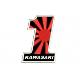 KAWASAKI NUMBER 1 (Kamikaze) Embroidered Patch