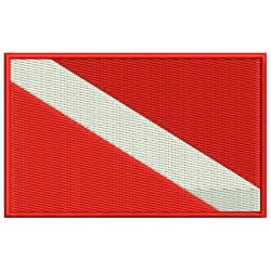 DOCKERY DIVE DOWN FLAG Embroidered Patch