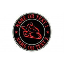 MOTORCYCLE Custom Embroidered Patch (Circle Design)