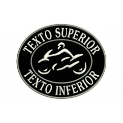 MOTORCYCLE Custom Embroidered Patch (Oval Design)