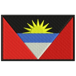 ANTIGUA AND BARBUDA FLAG Embroidered Patch