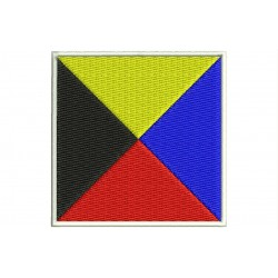 ICS ZULU FLAG Embroidered Patch