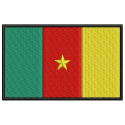 CAMEROON FLAG Embroidered Patch