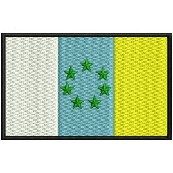 Parche Bordado Bandera CANARIAS (NACIONALISTA)