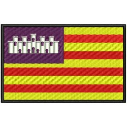 BALEARIC ISLANDS FLAG Embroidered Patch