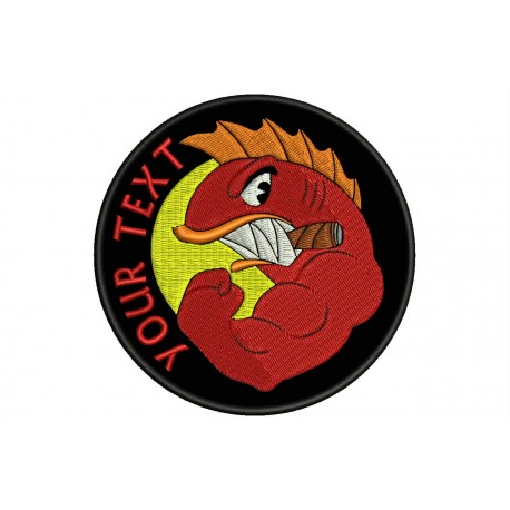 HELLFISH Custom Embroidered Patch