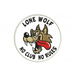 Parche Bordado LONE WOLF (No Clubs No Rules)