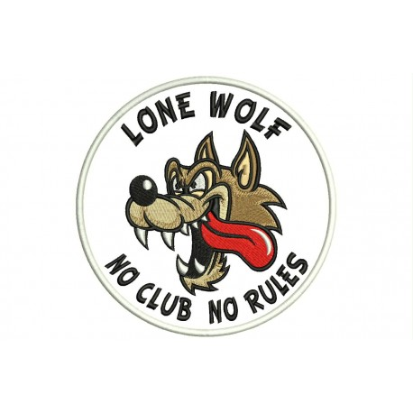 LONE WOLF (No Clubs No Rules) Embroidered Patch