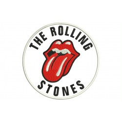 ROLLING STONES (Circle) Embroidered Patch