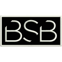 Parche Bordado BACKSTREET BOYS (Bordado BLANCO / Fondo NEGRO)