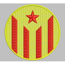 CATALONIA RED ESTELADA Embroidered Patch