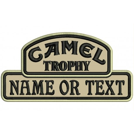 CAMEL TROPHY COLOR Custom Embroidered Patch