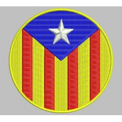 CATALONIA BLUE ESTELADA Embroidered Patch