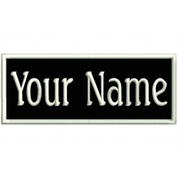 Custom Rectangular Embroidered Patch with NAME