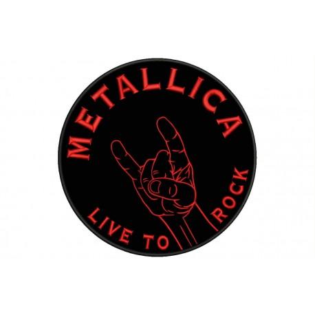 HAND DEVIL HORNS ROCK/METAL Custom Embroidered Patch