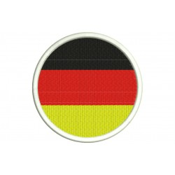 GERMANY FLAG (Circle) Embroidered Patch