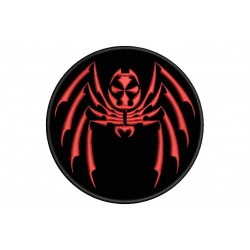 TRIBAL SPIDER (Circle) Embroidered Patch