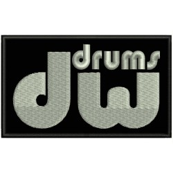 DW DRUMS Embroidered Patch