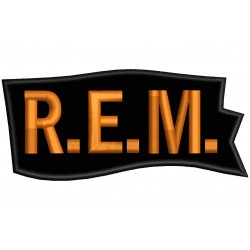 REM Embroidered Patch