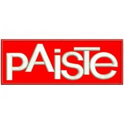 Parche Bordado PAISTE (Bordado BLANCO / Fondo ROJO)