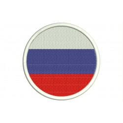 RUSSIA (FEDERATION) FLAG (Circle) Embroidered Patch