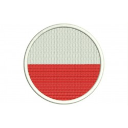 POLAND FLAG (Circle) Embroidered Patch