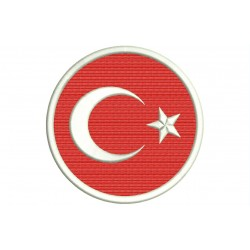 TURKEY FLAG (Circle) Embroidered Patch