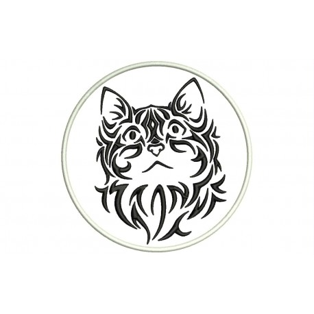 TRIBAL CAT Embroidered Patch