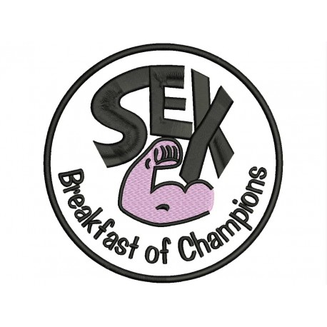 SEX (Breakfast of Champions) Embroidered Patch