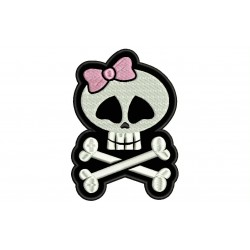 SKULL GIRL Embroidered Patch