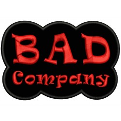 Parche Bordado BAD COMPANY (Bordado ROJO / Fondo NEGRO)