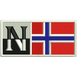 NAPAPIJRI with NORWAY FLAG Embroidered Patch