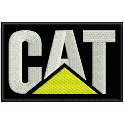 Parche Bordado CAT (Fondo NEGRO)