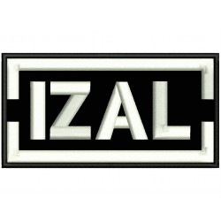 IZAL Embroidered Patch
