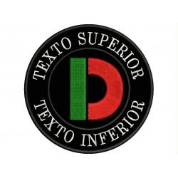 Parche Bordado Logo DUCATI (Fondo NEGRO)