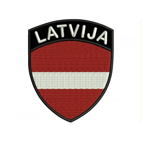 LATVIA SHIELD Embroidered Patch