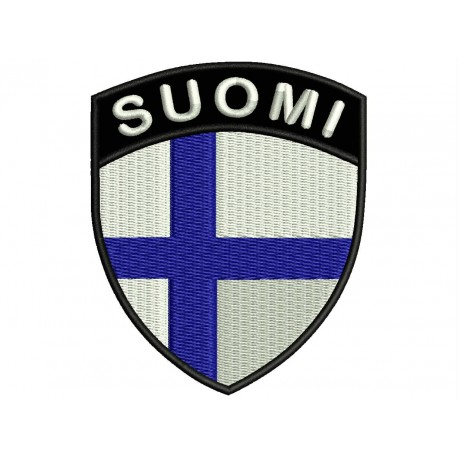 FINLAND SHIELD Embroidered Patch