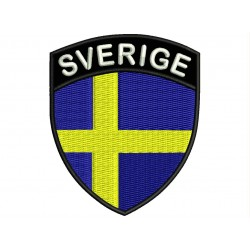 SWEDEN SHIELD Embroidered Patch