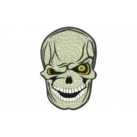 SMILING SKULL Embroidered Patch