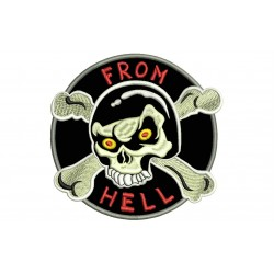 SKULL from HELL Embroidered Patch