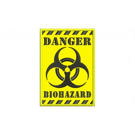 BIOHAZARD DANGER Embroidered Patch