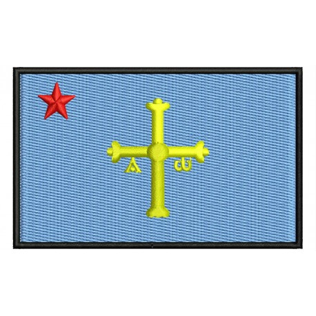 ASTURIAS INDEPENDENT FLAG Embroidered Patch