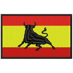 Parche Bordado Bandera ESPAÑA y TORO