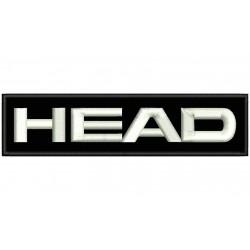 Parche Bordado HEAD (Bordado BLANCO / Fondo NEGRO)