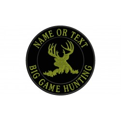 BIG GAME HUNTING Custom Embroidered Patch