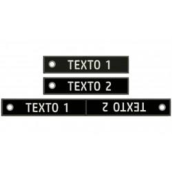RECTANGULAR EMBROIDERED KEYCHAIN Customizable (Mod. 1)