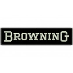 BROWNING (Letters) Embroidered Patch